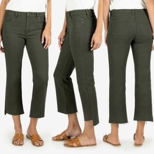 Anthro KFTK Kelsey High Rise Ankle Flare Jeans